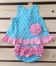 Gray & Pink Zigzag Swing top &Diaper Cover set for baby 0-2y