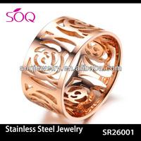 SR26001 bulk sale stainless steel rings wholesale jewelry