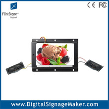7 inch motion activated open frame video player, pos lcd advertising display