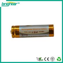 Più luminoso 1.5v aa batteria ricaricabile agli ioni di litio 2015 popolare