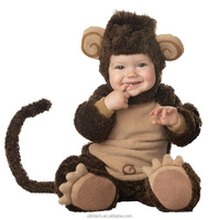 super cute monkey king cosplay china wholesale soft fabric baby animal romper costumes halloween monkey cosplay kids