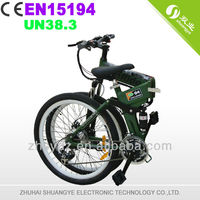 "26"" alloy frame 1:1 PAS 36v350w motor folding mountain bikes for sale"