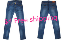 USD4 Free Shipping By Sea Stock Cheap Baggy Size With Ladies Jeans
