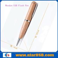 Wood USB on writing pen function Wood USB Stick Bulk 16GB Wood USB Flash Drive