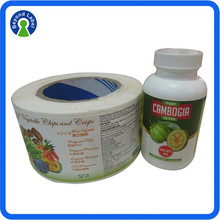 Specialized in printing adhesive vitamin bottle labels, factory printed bottle labels