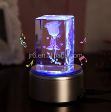 3d laser crystal glass cube for crystal wedding gift
