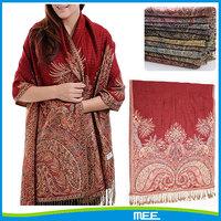 custom jacquard pakistan viscose pashmina shawl