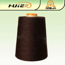 6s reciclado poliéster algodón hilado mezcla de guante de trabajo