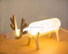 Decor Deer Wooden Stand Design LED Bottle Light Night Lamp for Gift Kid Girl Lover