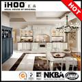Prefabricado de metal base fregadero l- en forma de gabinete de la cocina