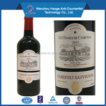 Cheap standard wine label size, OEM roll adhesive wine label