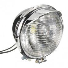 25 LEDs 12V Motorcycle Universal Motorbike Headlight Head Lamp Chrome Case