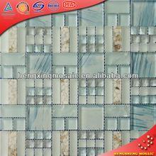 KS371 glass flower floor tiles in philippines mosaic art