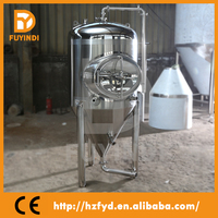 Stainless steel conical beer brewing equipment/cone wine brewing vessel