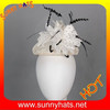 sinamay mini hat top hat base with feather