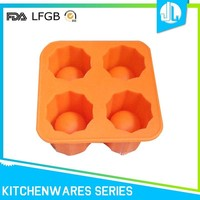 Factory directly competitive price colorful useful FDA & LFGB ice cube tray silicone