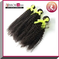 Long 30 Inch Mongolian kinky curl Natural Color Human Hair Weft wholesale