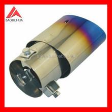 exhaust titanium muffler 89mm length polish tail part in blue