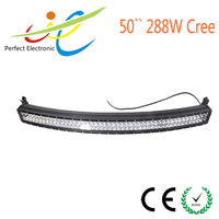 Curved LED light bar 50inch 288W,12/24V LED light bar,offroad car accessories,4x4 auto lighting,truck,4WD,IP67