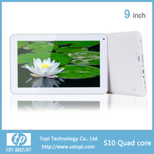 S10 9 inch Quad Core Tablet PC RK3126 or A33 option Capacitive screen with 3600 mAh battery