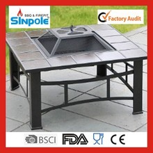 Trade assurance Sinople 2015 New steel fire pit table with tiles