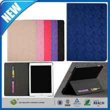 C&T Hot lace wallet pu leather card holder magnetic flip cover case for ipad air2