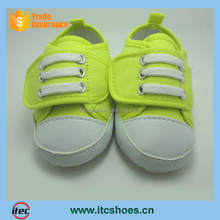 Prewalker Infant Fake Lace-Up One Velcro Srap Sneaker Anti-skid Soft Shoes Trainer Neon Greeen