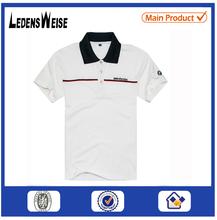 Hot-sale China factory-made short sleeved custom white flat knit stripe t-shirt