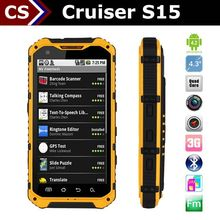 android 4.4.2 rugged phone Cruiser S15 industrial dustproof phone mobile phone gps trackar Brand designed mobile phone china