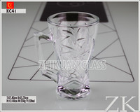 wholesale wine glass with metal stem from verified China Glass Cup manufacturers