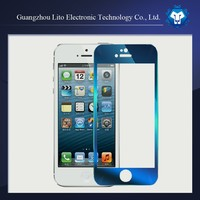New Arrival mirror colorful Premium Tempered Glass Screen Protector for Iphone 5/5S