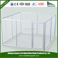 China wholesale large dog kennel / modular dog kennel / double dog kennel