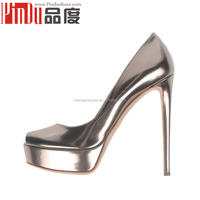 100% genuine leather shoes imported from china fashion dress shoes 16cm heel women shoes