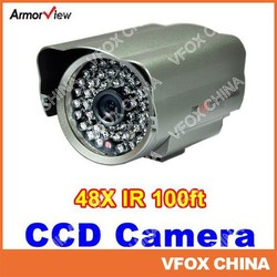 Home Security 48IR LED CCD 6mm Weatherproof Indoor/ Outdoor Security CCTV Camera Bullet Camera