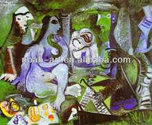 Linen Canvas Pablo picasso abstract painting 100% by Handmade