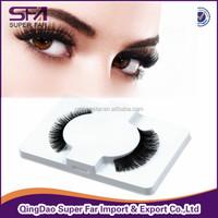 hot selling free sample 100% human hair made wholesale false eyelashes