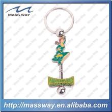lovely enamel 3D metal custom cartoon princess key chain