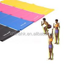 Flat Latex yoga band,fitness elastic band,high quality exercise bands
