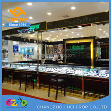 countertop rotating jewelry display stand and case for mall