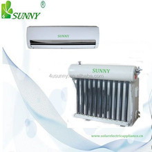 Ductless hybrid solar air conditioner with vaccum tubes