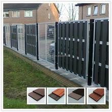 2015 new design outdoor wpc garden fence wood plastic composite fencing