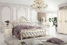 white Wooden bedroom set 6008