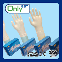 Latex free anti dirt powder vinyl gloves with display box