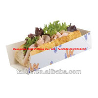 disposable paper food serving trays open baguette tray