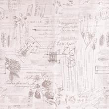 Fashion Linen Cotton English Letter Printed Fabric