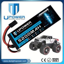 Upower high rate C 5200mah 2s high discharge rc car lipo battery for rc drift car