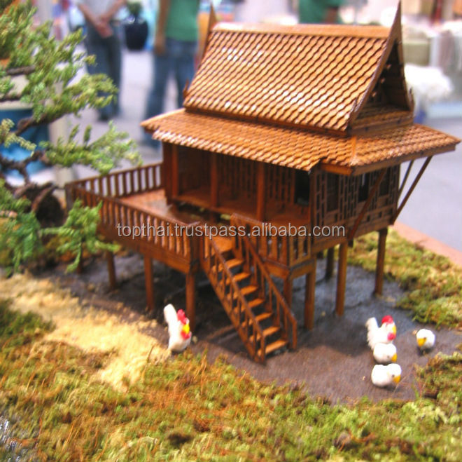 Christmas Tree Manufacturer Thailand : Christmas gift thai traditional teak house miniature dream