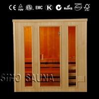 Traditional sauna room red cedar outdoor Finnish steam saunas manufacturing for distributor (CE/ISO/TUV/FSC/ETL/RoHS)