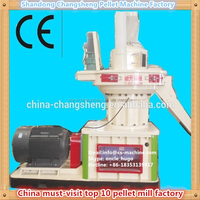 CSPM 2015 hot sale wood pellet mill 1 ton per hour with auto lubrication system