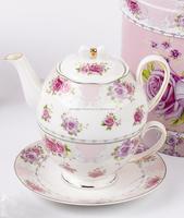 Big capacity chinese porcelain tea set grace design in low price